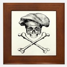 Chef Skull and Crossbones Framed Tile