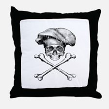 Chef Skull and Crossbones Throw Pillow
