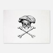 Chef Skull and Crossbones 5'x7'Area Rug