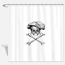 Chef Skull and Crossbones Shower Curtain