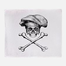 Chef Skull and Crossbones Throw Blanket