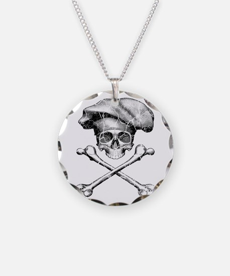 Chef Skull and Crossbones Necklace