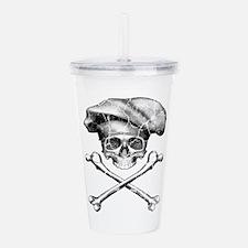 Chef Skull and Crossbones Acrylic Double-wall Tumb