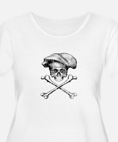 Chef Skull and Crossbones Plus Size T-Shirt