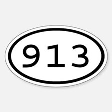 913 Oval Oval Decal