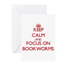 Keep Calm and focus on Bookworms Greeting Cards