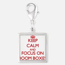 Keep Calm and focus on Boom Boxes Charms
