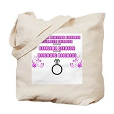 Bride to be - Binary with ring Tote Bag