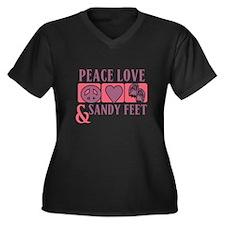 Peace Love & Sandy Feet Plus Size T-Shirt