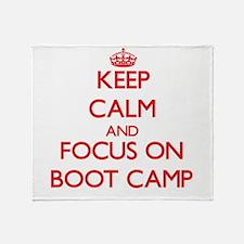 Unique Boot camp Throw Blanket