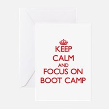 Keep Calm and focus on Boot Camp Greeting Cards
