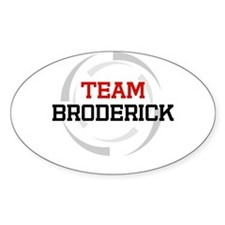 Broderick Oval Decal
