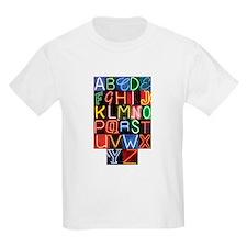 Neon Sign Alphabet T-Shirt