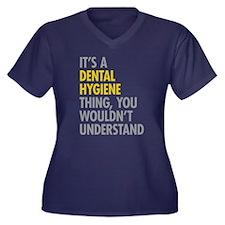 Its A Dental Women's Plus Size V-Neck Dark T-Shirt
