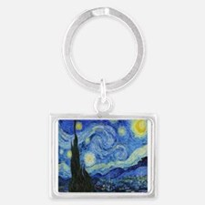 VAN GOGH STARRY NIGHT Landscape Keychain