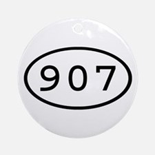 907 Oval Ornament (Round)