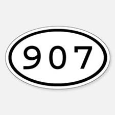 907 Oval Oval Decal