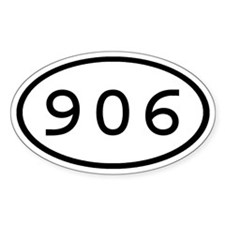 906 Oval Oval Decal