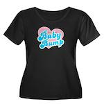 Baby Bump Women's Plus Size Scoop Neck Dark T-Shir