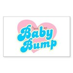Baby Bump Rectangle Sticker