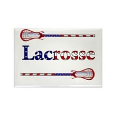 American Flag Lacrosse Sticks Magnets