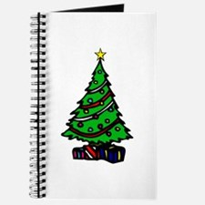 Decorated Christmas Tree & gifts Journal