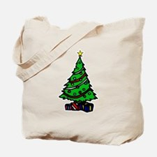 Decorated Christmas Tree & gifts Tote Bag