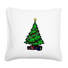 Decorated Christmas Tree & gifts Square Canvas Pil