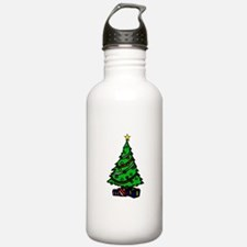 Decorated Christmas Tree & gifts Water Bottle