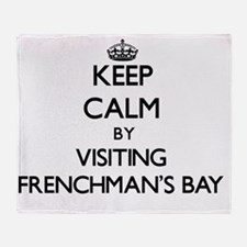 Unique Frenchmans bay Throw Blanket