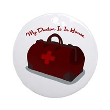 Doctor Is In House Ornament (Round)