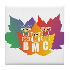BMC Autumn Owls Tile Coaster