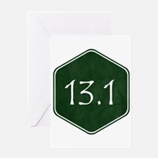 Green 13.1 Hexagon Greeting Cards