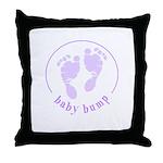 Baby Bump footprints Throw Pillow