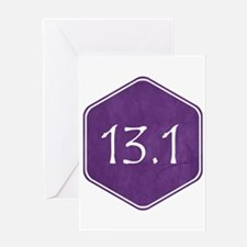 Purple 13.1 Hexagon Greeting Cards