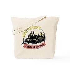 Back To The Future Train Tote Bag