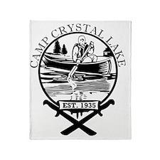 Cute Crystal lake camp Throw Blanket