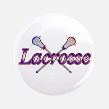 "Cute Lacrosse 3.5"" Button"