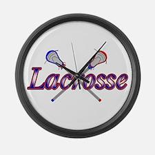 Cute Lacrosse Large Wall Clock
