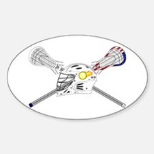 Lacrosse Sticks Modern Bumper Stickers