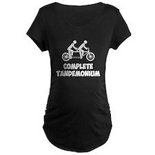 Tandem Bike Complete Tandemonium Maternity T-Shirt