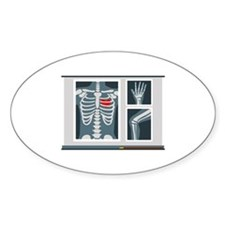 Heart X-Ray Decal