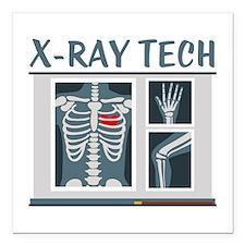"X-Ray Tech Square Car Magnet 3"" x 3"""