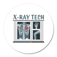 X-Ray Tech Round Car Magnet
