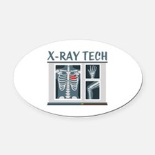 X-Ray Tech Oval Car Magnet