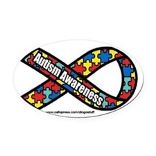 Funny Autism Oval Car Magnet