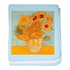 VAN GOGH SUNFLOWERS baby blanket