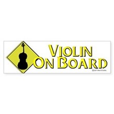 """Violin On Board"" Bumper Bumper Sticker"