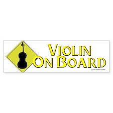 """""""Violin On Board"""" Bumper Car Sticker"""