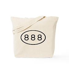 888 Oval Tote Bag
